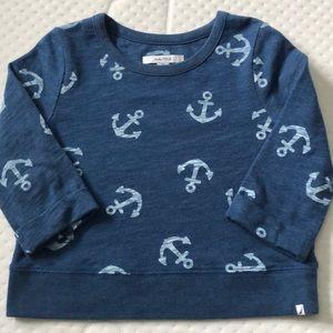 Girls 3/4 sleeve nautical top